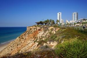 NETANYA, ISRAEL - CIRCA OCTOBER 2013 On the coast