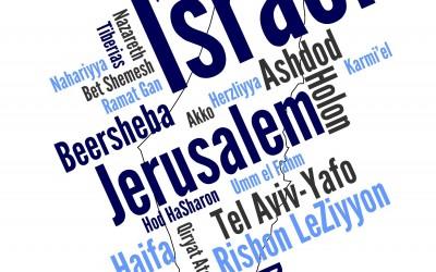 Найти Нетанию на карте Израиля
