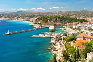 View of Nice, mediterranean resort, Cote d'Azur, France