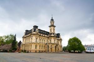 Neo-renaissance Town Hall in Nowy Sacz, Poland