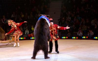 Уникальное выступление Московского цирка на льду