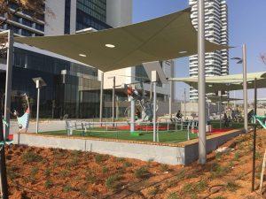 Новый детский парк в Нетании