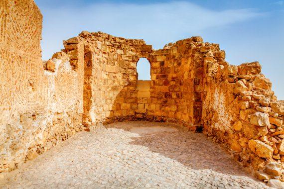 Мертвое море и крепость Масада
