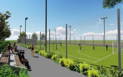 Новая спортивная зона в парке у озера в Нетании