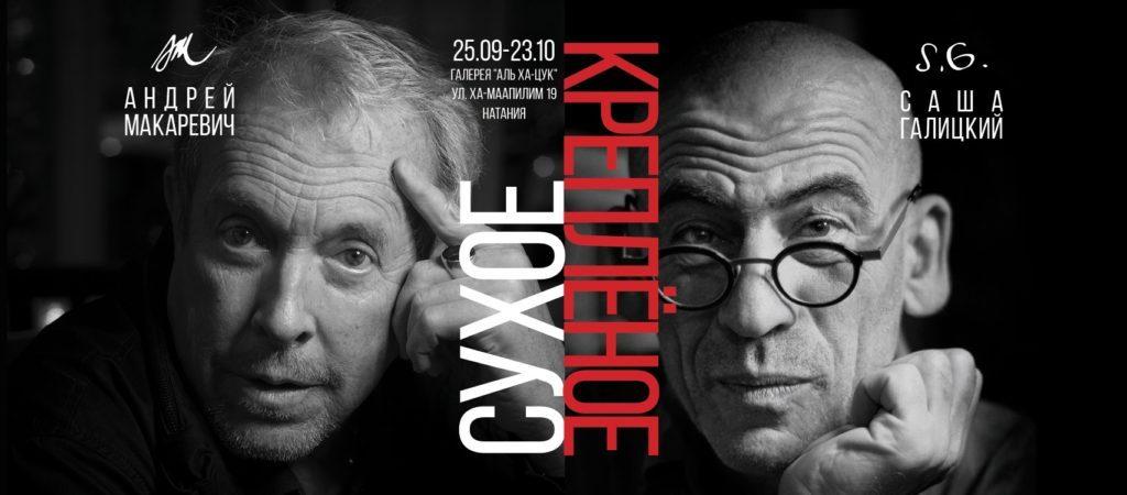 Выставка Андрея Макаревича и Саши Галицкого «Сухое – креплёное» в Нетании