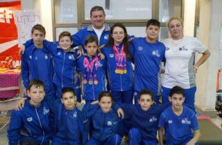 Зимний детский чемпионат Израиля по плаванию 2020 г. в Нетании