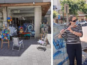 Уличные художники вернулись в центр Нетании после строгого карантина.