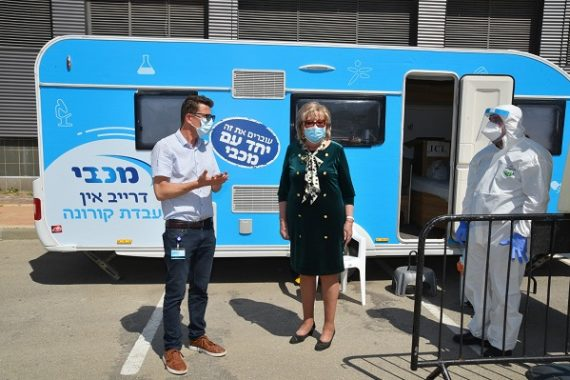 Тесты на коронавирус Drive-In в Нетании