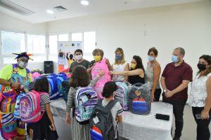 Более 600 школьных рюкзаков для школьников Нетании