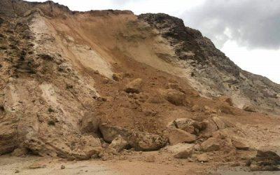 Обрушение береговой зоны в Нетании