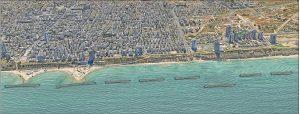Начало проекта по укреплению берега в Нетании
