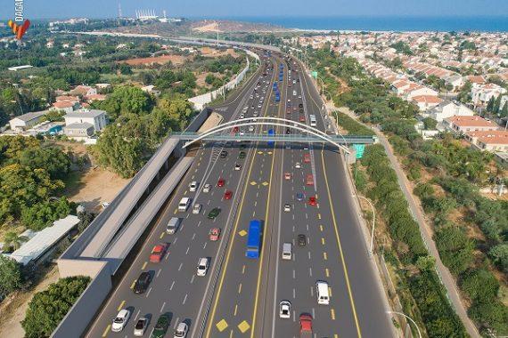 В первые в Израиле: чередующиеся полосы движения на шоссе № 2