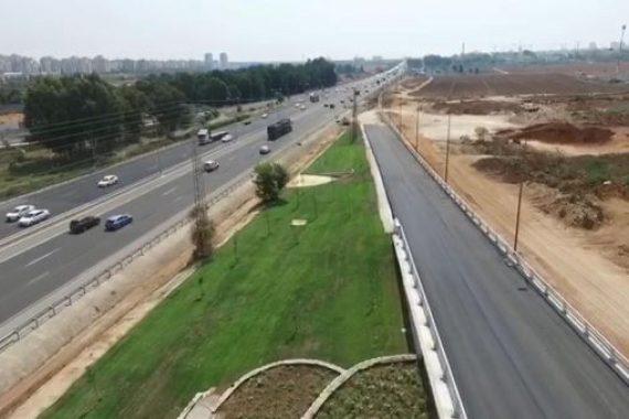 Скоро открытие нового съезда из города в сторону Тель-Авива