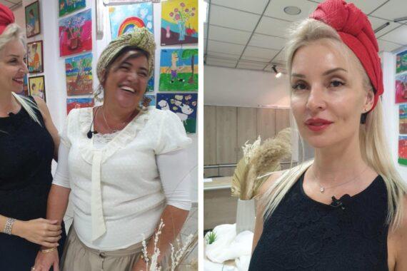 Учимся завязывать платки женственно и стильно с Яэль и Алис Роках