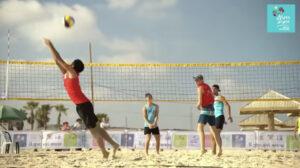 Праздник волейбола на пляже Нетании