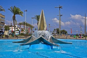 Netanya. Fountain at the city square