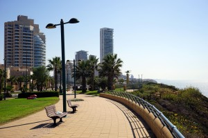 NETANYA, ISRAEL - CIRCA OCTOBER 2014 Embankment