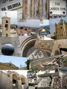 Welcome to Jerusalem. Collage of photos